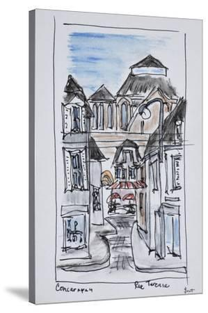 Old church of Concarneau along Rue Turenne, Brittany, France-Richard Lawrence-Stretched Canvas Print