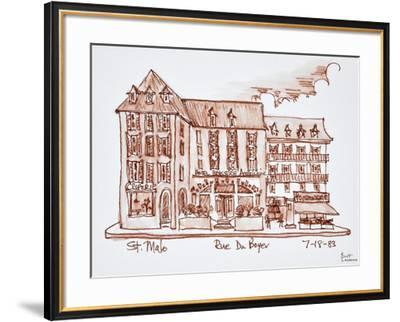 Hotel Brasserie Armoricaine along Rue du Boyer, St. Malo, Brittany, France.-Richard Lawrence-Framed Photographic Print