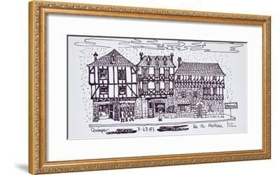 Half-timbered architecture along Rue St. Mathieu, Quimper, Brittany, France-Richard Lawrence-Framed Photographic Print