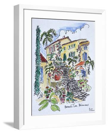 Flowers cover the town of Bormes-les-Mimosas, Provence-alpes-cote d'azur, France-Richard Lawrence-Framed Photographic Print