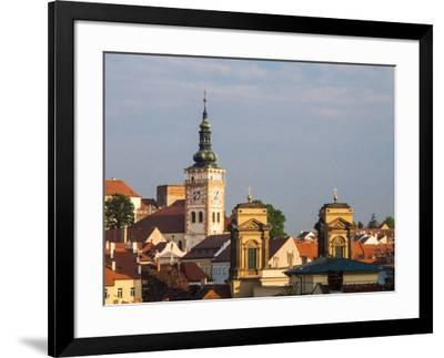 Czech Republic, Mikulov. The church Tower of St. Wenceslas-Julie Eggers-Framed Photographic Print
