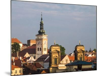 Czech Republic, Mikulov. The church Tower of St. Wenceslas-Julie Eggers-Mounted Photographic Print