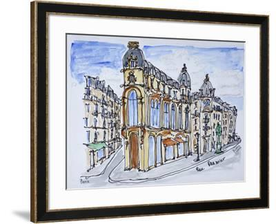 Traditional Haussmann style buildings on Rue Reaumur, Paris, France-Richard Lawrence-Framed Photographic Print