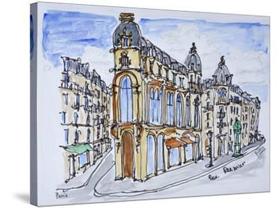 Traditional Haussmann style buildings on Rue Reaumur, Paris, France-Richard Lawrence-Stretched Canvas Print