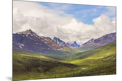 Canada, Yukon. Landscape of Tombstone Range and North Klondike River.-Jaynes Gallery-Mounted Premium Photographic Print