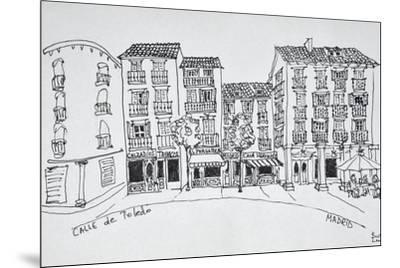 Calle de Toledo shopping street, Madrid, Spain-Richard Lawrence-Mounted Premium Photographic Print