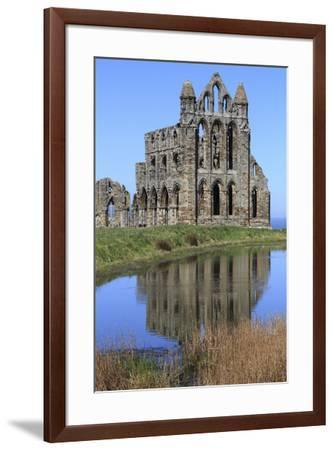 England, North Yorkshire, Whitby. Ruins of Whitby Abbey-Emily Wilson-Framed Premium Photographic Print