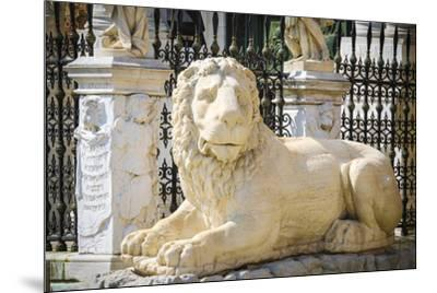 Lion statue at the entrance to the Arsenal, Venice, Veneto, Italy-Russ Bishop-Mounted Premium Photographic Print