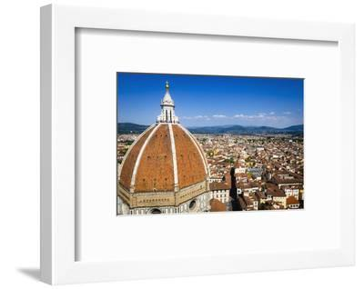 The Duomo dome and rooftops from Giotto's Bell Tower, Florence, Tuscany, Italy-Russ Bishop-Framed Premium Photographic Print