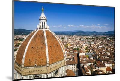 The Duomo dome and rooftops from Giotto's Bell Tower, Florence, Tuscany, Italy-Russ Bishop-Mounted Premium Photographic Print