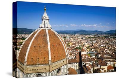 The Duomo dome and rooftops from Giotto's Bell Tower, Florence, Tuscany, Italy-Russ Bishop-Stretched Canvas Print