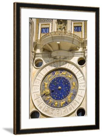 The Torre dell'Orologio in the Piazza San Marco, Venice, Veneto, Italy-Russ Bishop-Framed Premium Photographic Print