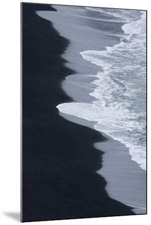 Iceland, Ingolshofdi, Water Rushing Up on Lava Sand-Hollice Looney-Mounted Premium Photographic Print