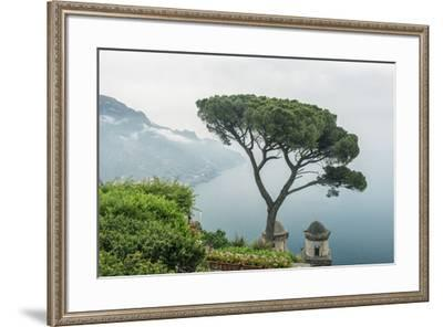 Italy, Amalfi Coast, Ravello, view of Coastline from Villa Rufolo-Rob Tilley-Framed Premium Photographic Print