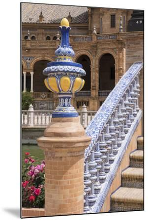 Spain, Andalusia, Seville. Plaza de Espana, ornate bridge.-Brenda Tharp-Mounted Premium Photographic Print