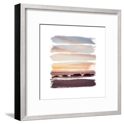Sunset Stripes IV--Framed Art Print