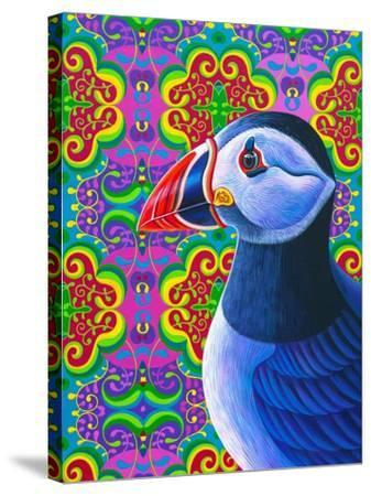 Puffin-Jane Tattersfield-Stretched Canvas Print