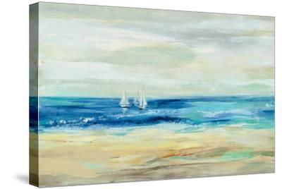 Sand and Sea--Stretched Canvas Print