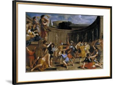 Gladiadores romanos, 1635-1639-Giovanni Francesco Romanelli-Framed Giclee Print