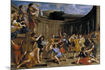 Gladiadores romanos, 1635-1639-Giovanni Francesco Romanelli-Mounted Giclee Print