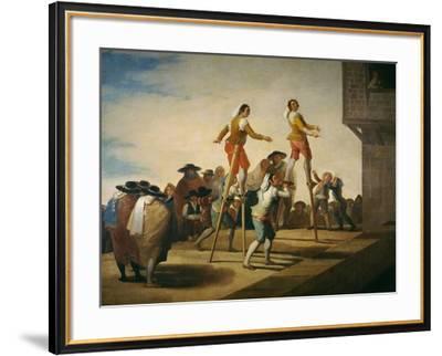 Stilts, 1791-1792-Francisco de Goya y Lucientes-Framed Giclee Print