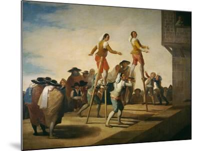 Stilts, 1791-1792-Francisco de Goya y Lucientes-Mounted Giclee Print