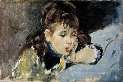 Little Girl, 1890-1895-Ignacio Pinazo camarlench-Framed Giclee Print