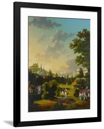 Meeting between Napoleon I and the Grand Duke Ferdinand Joseph at Wuerzburg, Germany,1806.-Hyppolyte Lecomte-Framed Giclee Print