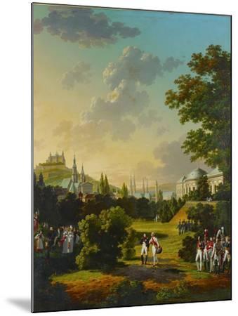 Meeting between Napoleon I and the Grand Duke Ferdinand Joseph at Wuerzburg, Germany,1806.-Hyppolyte Lecomte-Mounted Giclee Print