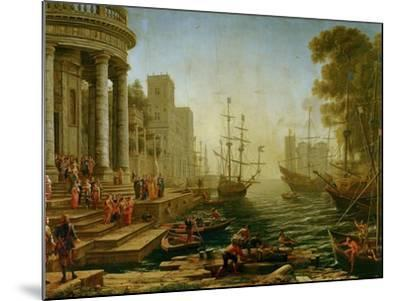 Seaport with the embarkation of Saint Ursula, 1614-Claude Lorrain-Mounted Giclee Print