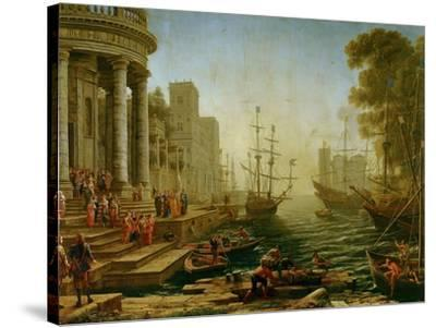 Seaport with the embarkation of Saint Ursula, 1614-Claude Lorrain-Stretched Canvas Print