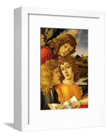 Four angels. Detail from the Coronation of the Madonna and Child (Madonna of the Magnificat).-Sandro Botticelli-Framed Giclee Print