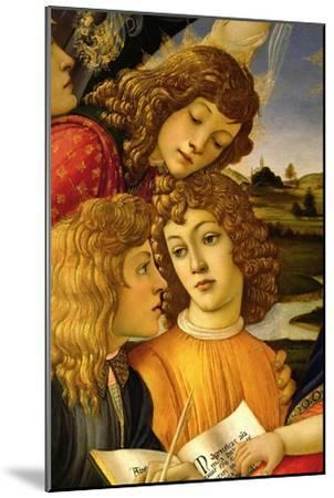 Four angels. Detail from the Coronation of the Madonna and Child (Madonna of the Magnificat).-Sandro Botticelli-Mounted Giclee Print