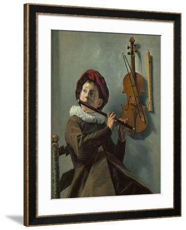 Boy playing the flute-Judith Leyster-Framed Giclee Print