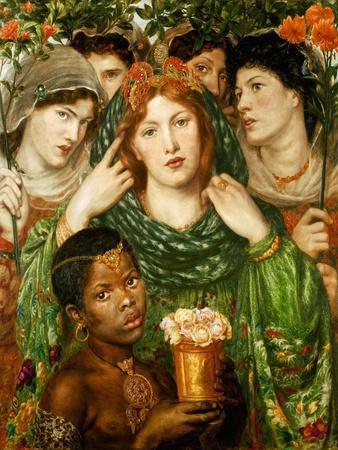 The beloved (1873).-Dante Gabriel Rossetti-Framed Giclee Print