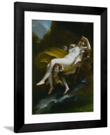 Lenlevement de Psyche-The abduction of Psyche, 1808-Pierre Paul Prud'hon-Framed Giclee Print