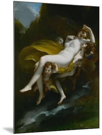 Lenlevement de Psyche-The abduction of Psyche, 1808-Pierre Paul Prud'hon-Mounted Giclee Print