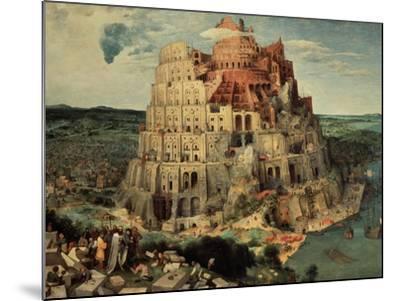 The Tower of Babel, 1563-Pieter Bruegel the Elder-Mounted Giclee Print