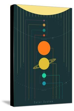 The Solar System--Stretched Canvas Print