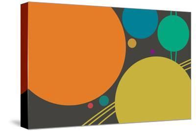 Minimalist Planets--Stretched Canvas Print