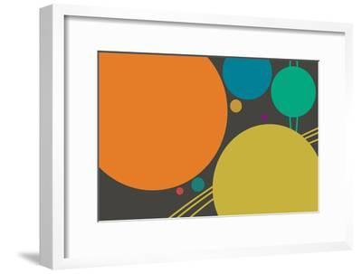 Minimalist Planets--Framed Art Print