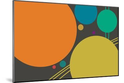 Minimalist Planets--Mounted Art Print
