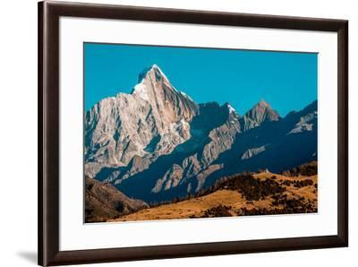 Early morning light on Mount Siguniang on the Tibetan Plateau.-Ben Horton-Framed Photographic Print