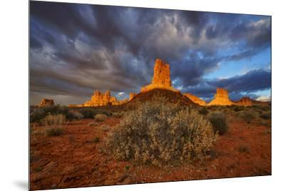 Sunriose over the Valley of the Gods.-Andy Mann-Mounted Photographic Print