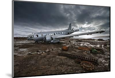The wreckage of an Ilyushin-14T cargo plane at an old Soviet weather research outpost-Cory Richards-Mounted Photographic Print