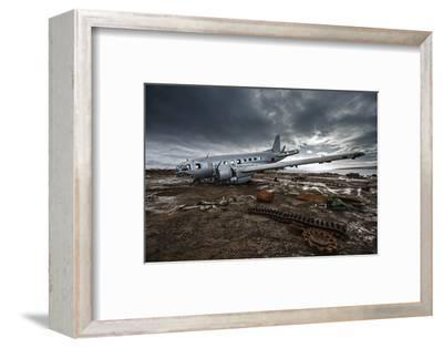 The wreckage of an Ilyushin-14T cargo plane at an old Soviet weather research outpost-Cory Richards-Framed Photographic Print