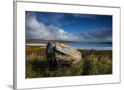 An abandoned boat on the island of Hoy.-Jim Richardson-Framed Photographic Print