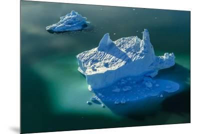 Aerial of icebergs in Sermilik Fjord.-Ralph Lee Hopkins-Mounted Photographic Print