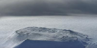 A storm over Hofsjokull glacier.-Raul Touzon-Framed Photographic Print