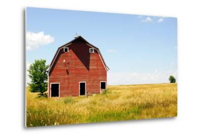 Abandoned Farm in Nebraska--Metal Print